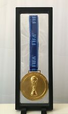 Russia 2018 Fifa World Cup Gold Medal Solid Heavy with Display Case