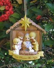 """Adorable PRECIOUS MOMENTS NATIVITY CHRISTMAS ORNAMENT """"How Precious The Night"""""""