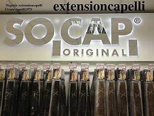 EXTENSION HAIR 75 CIOCCHE IN CHERATINA ORIGINAL SOCAP 50CM 100% NATURALI 67 EURO