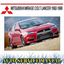 MITSUBISHI MIRAGE COLT LANCER 1992-1996 REPAIR SERVICE MANUAL ~ DVD