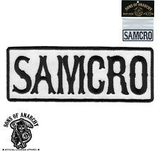 SON OF ANARCHY SAMCRO EMBROIDERED IRON ON SOA BIKER  PATCH