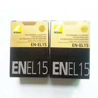 Two (2x) EN-EL15 Battery For Nikon D7000 D800 D800E D7000 D600 MB-D11/D12 NEW
