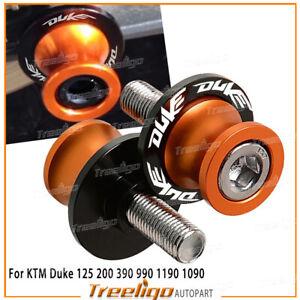 For KTM DUKE 125 200 390 690 790 Swingarm Slider Spools Stand Screws Cover M10