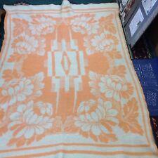 Vintage Crown Royal Holland 100% Wool Blanket Zaalberg Leiden 60x80 Warm Winter