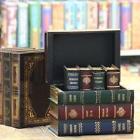 Wood Vintage Decorative Fake Book Hiddien Secret Storage Box Book Shelf Gifts