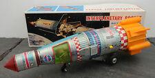 RARE Interplanetary Rocket BO Tin Space Toy Yonezawa Japan MIB Battery Operated