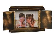 6 x 8-inch Bois De Bambou Avec Volets Cadre Photo Support libre