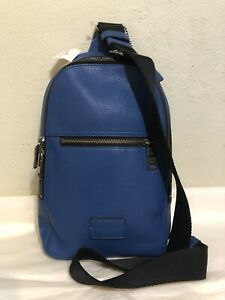 NWT COACH F71709  CAMPUS PACK IN PEBBLE LEATHER DENIM