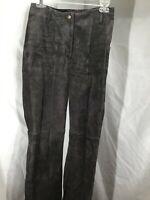 Wilson Suede Leather Maxima Pants Women's Size 4 Brown Zip Legs