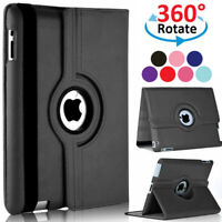 360 Rotating Case Leather Stand For iPad Mini 2 3 4 5 Air Pro 9.7 10.2 10.5 12.9