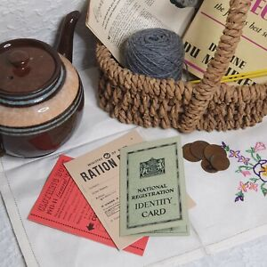 1943 WW2 Adult I.D. Card, Food Ration Book & Clothing Ration Book Reproduction