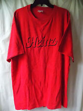 HEINZ T-Shirt, Red with Black Logo Size XL, Used Fair Condition
