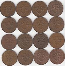 Guernsey monedas 4 & 8doubles 1945-1959 Lote Colección x12/16