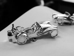 925 sterling silver Vintage Sports Car style cufflinks MADE IN ENGLAND