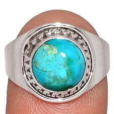 Bleu Mohave Turquoise - Arizona 925 Bague en Argent Bijoux S.9 AR163460