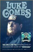 LUKE COMBS This One's For You 2017 Ltd Ed RARE New Poster +FREE Country Poster!
