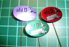 Duivensport duivenlossen afdeling D stick pin badge 60s dove sports speldje 3pcs