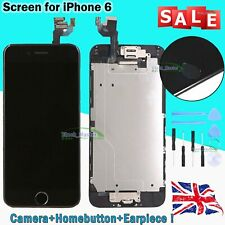 Assembly Touch Screen For iPhone 6 6G LCD Digitizer Display Black Home Button UK