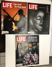 Life Magazine Black History Lot Negro Revolt Martin Luther King Jr Detroit Riots