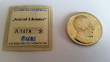 Medaille Konrad Adenauer 1876-1976, Deutschland einig Vaterland 1991, SILBER, PP