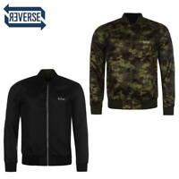 LEE COOPER Blouson Veste Réversible Noir/Camouflage Homme - neuf