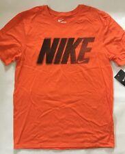 CLOSEOUT Nike 908815 Men's Active Cotton T-Shirt Grey & Orange