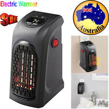 350W Portable Electric Heater Fan Wall Outlet Handy Air Heating Warmer Silent AU