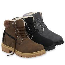 Damen Stiefeletten Worker Boots Warm Gefütterte Winterschuhe 832458 Schuhe