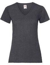 Fruit of the Loom Damen T-Shirt LADIES VALUEWEIGHT V NECK T Kurzarm Neu F271