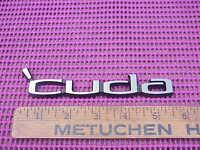 1970 71 72 73 74 Plymouth Barracuda 'Cuda Nameplate Emblem