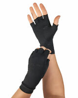 Tommie Copper Womens Half Finger Support Compression Gloves Hand Pain Relief