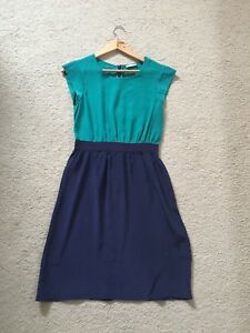 Jigsaw Clothing 6 100% Silk Blue Teal Dress New Without Tag $349