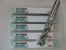 "5 PC 1/2""x2"" LOCx 4"" OAL YG-1 ALU-POWER 3 Flute Carbide End Mill - ALUM ""NEW"""
