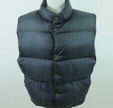 L.L.Bean Jet Black Down Filled Insulation Lightweight Quilted Puffer Winter Vest