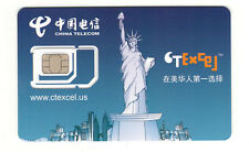 Preloaded Ctexcel Ct-Mobile 3in1 Simcard + $29X1 Month,T-Mobile network中国运营的电 信卡