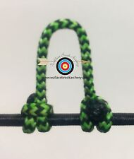 1 Pack- Speckled  Flo Green/Black  Archery Release Bow String D Loop, BCY #24