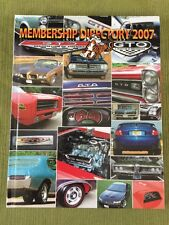 Pontiac GTO Assoc. Owners Club Membership Directory Yearbook 2007 Illus.