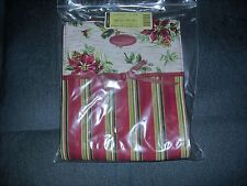 Longaberger Holiday Christmas Gift Bag - Holiday Strip, Holiday Botanical - New