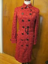 Burberry Women's Sandringham Lace Trench Coat Parade Red US 4, EU 38