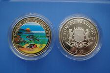 Somalia 10 dollari farbmünze 1998 Marine Life Protection-paesaggio marino (er05)