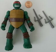 "Loose 2014 Nickelodeon Playmates TMNT Head Droppin Raphael 4.5"" Action Figure"