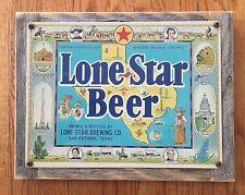 Lone Star Beer San Antonio TX Texas Alamo Craft Brewery Vintage Ad Metal Sign
