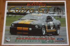 2008 Blackforest Motorsports #50 Ford Mustang Cobra Rolex 24 Grand Am postcard