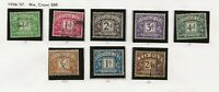 1936/7 KING EDWARD V111 SET FINE USED, ALL EIGHT VALUES COMPLETE E8R SIDEWAYS
