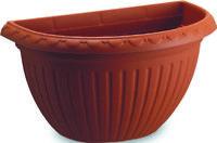 vaso in plastica a muro parete mod Argo cm 40x22h terrazzo balcone esterno