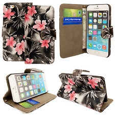 Luxury Magnetic Flip Cover Stand Wallet Leather Case For iPhone 5S 5C 6 6S Plus