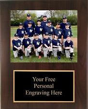 9x12 Personalized Baseball - Coach / Sponser Team Photo Plaque - Free Engraving