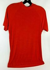 Men's Ballroom Dance Red Super Stretch Competition Shirt Vtg Elee Sz Large