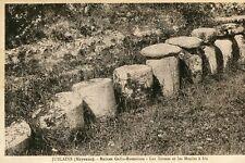 Carte JUBLAINS Ruines Gallo Romaines Les Bornes et les Meules à blé