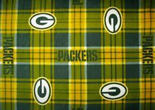 2 NFL GREEN BAY PACKERS PRINTED FLEECE KING PILLOW CASES/BLK FLEECE BACK 20X35